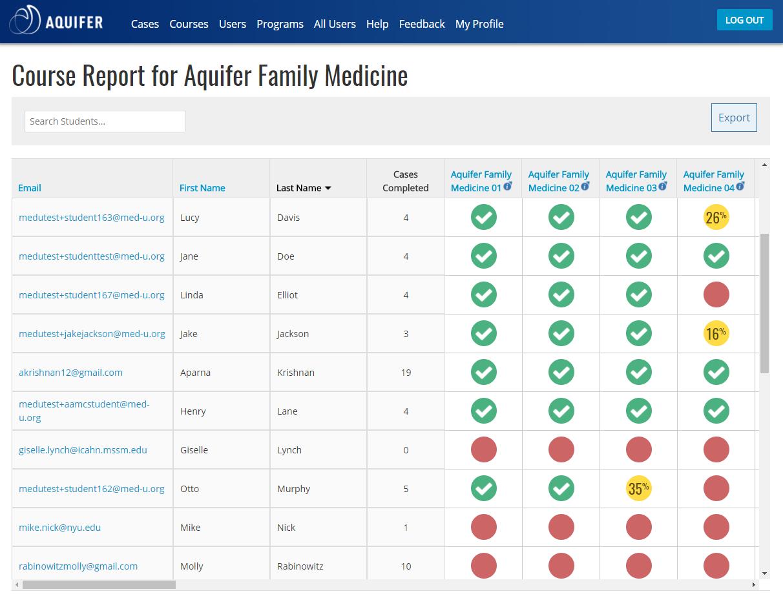Aquifer Family Medicine (formerly fmCASES) | Case-Based Virtual